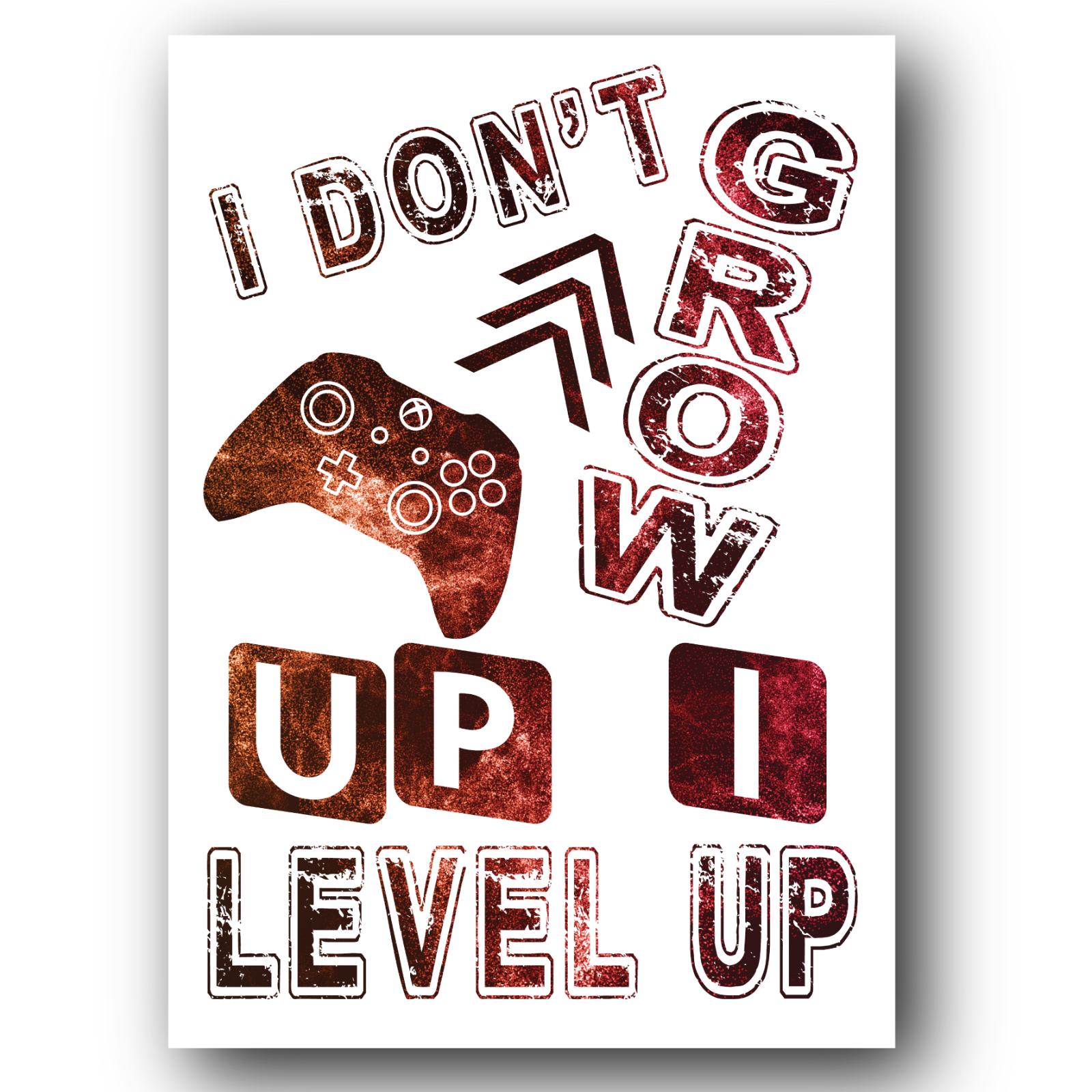 Gaming Boys Bedroom Prints Games Wall Art Gamer Gifts Gaming Poster A3 A4 #02