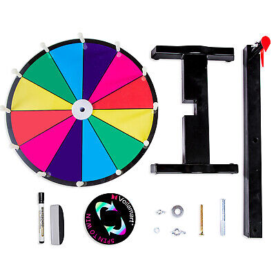 12 Tabletop Prize Spin Wheel Editable Dry Erase 12 Slots Fortune Spinning Game