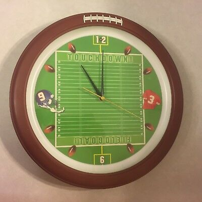 Wall Clock - Football NFL - 12 Diff Sounds at the Top of Each Hour - - Nfl Novelties