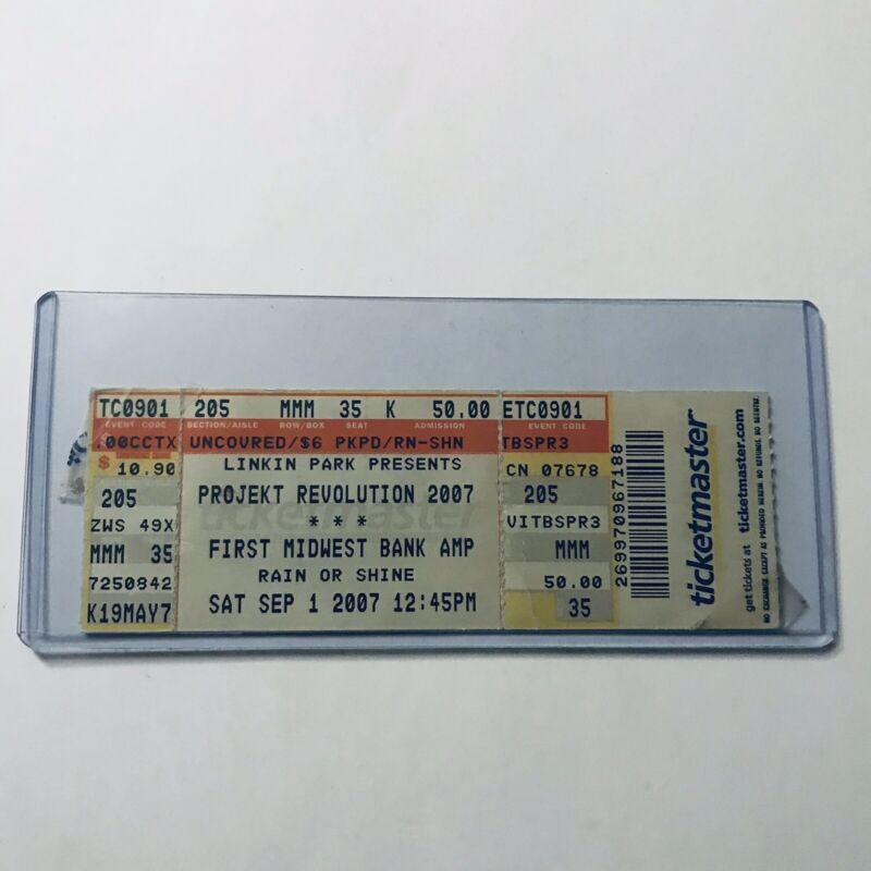 Projekt Revolution LINKIN PARK First Midwest Bank Concert Ticket Stub Sep 2007