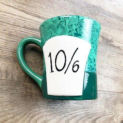 Alice in Wonderland Mad Hatter Coffee Mug Cup Disney Green Hat 10/6 Mushroom - 10 6 Mad Hatter