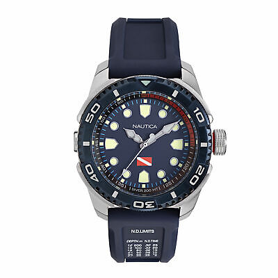 Nautica Mens Tarpoon Blue Dial Sport Watch