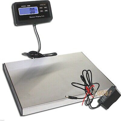 440lbs Lcd Digital Floor Bench Scale Postal Pet Platform Scale Shipping 200kg