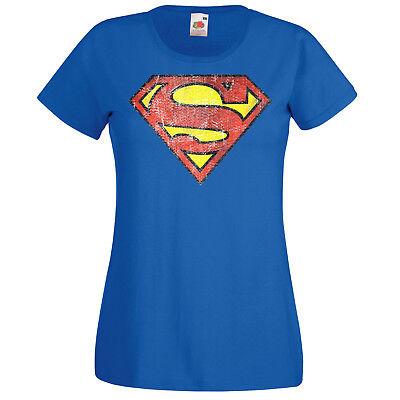 Batman Damen Shirt (TRVPPY Damen T-Shirt Shirt Modell Superman Batman Flash League XS-XXL)