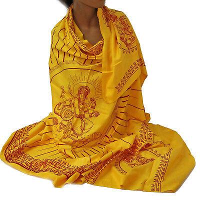 Scarf Cloth Lunghi Sarong Mantra Benares Deco Cloth Ganesh Ganpati Om India 20