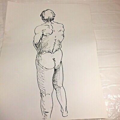 Vintage Black /& White Photo 1950s Nude Jock Gay Int 1245