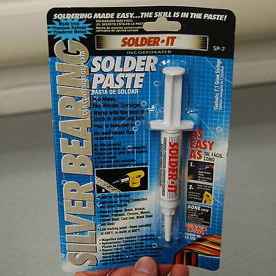 Solder-it Sp-7 Silver Bearing Solder Paste Syringe 7.1 Grams Flux Blended In