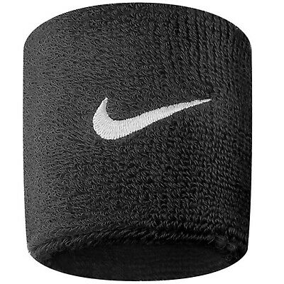 2 Nike Swoosh Logo Armbänder Paar Schweißband Sport Tennis Fitnessstudio Fußball