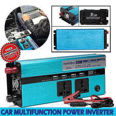 Car Caravan 1500W/3000Watt Modified Sine Wave Power Inverter DC 12V - AC 230V UK