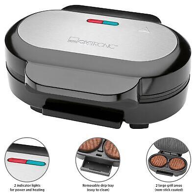 Parrilla grill para hamburguesas recubrimiento antiadherente Clatronic HBM 3696