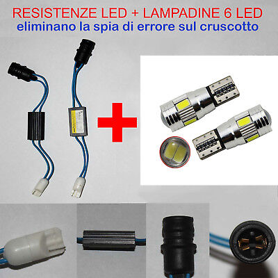 LUCI TARGA FIAT 500X KIT RESISTENZE + LAMPADINE 6 LED T10 - W5W NO ERRORE 500 X