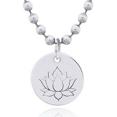 Sterling Silver pendant lotus flower design dainty 18mm drop spiritual theme new