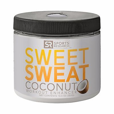 NEW!! Sweet Sweat with Extra Virgin Organic Coconut Oil; 'XL' Jar 13.5oz.
