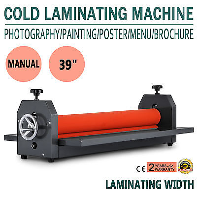391000mm Manual Cold Roll Laminator Vinyl Photo Film Poster Laminating Machine