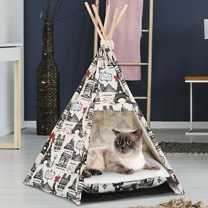 Beau Lit Pour Chien Chat Style Teepee Cabane