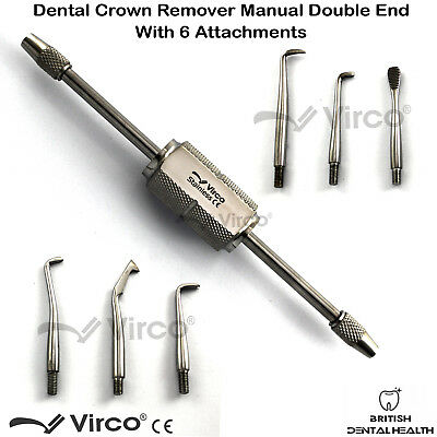Morrel Crown Remover With 6 Attachments Dental Stainless Steel Instrument Ce