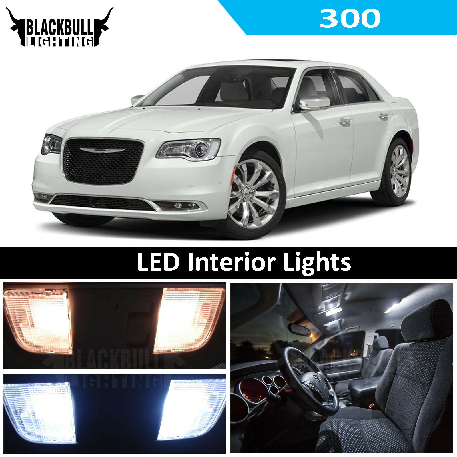 White Chrysler 300 >> Details About Fits 2015 2018 Chrysler 300 White Led Interior Lights Accessory Replacement Kit