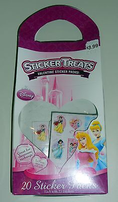 Disney Princess Sticker Treats 20 Valentine Sticker Packs](Valentine Treats)