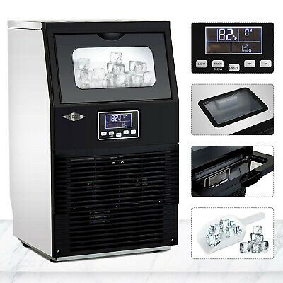 88 LBS Built-In Commercial Ice Maker Freestand Under Counter Ice Cube Machine