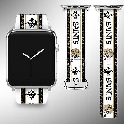 New Orleans Saints Apple Watch Band 38 40 42 44 mm Series 1 2 3 4 Wrist Strap 05