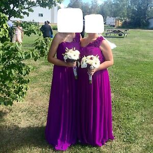 Bridesmaid Dress - Dessy Collection, purple, size 4, $170 OBO