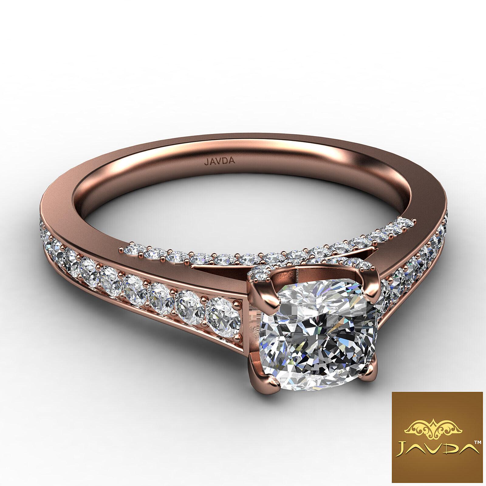 Cushion Cut Diamond Flawless Engagement GIA G VVS2 Pave Set Ring Platinum 1.25Ct 9