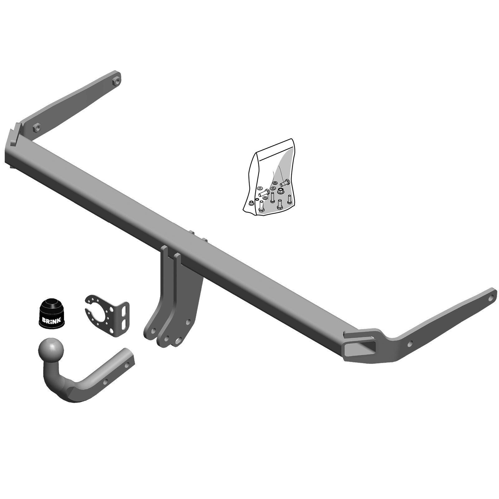 Swan Neck Tow Bar Brink Towbar for Volkswagen Polo Hatchback 2001-2009