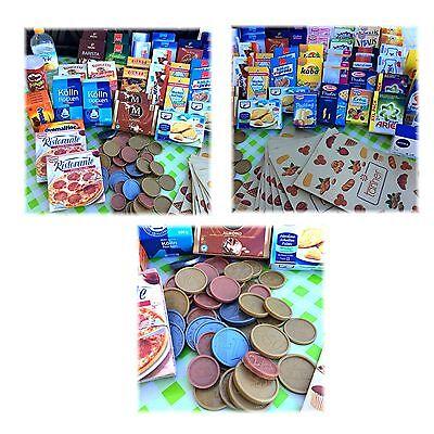 Kaufmannsladen Set 110 teilig Zubehör für Kinderküche Kaufladen Tante Emma Laden