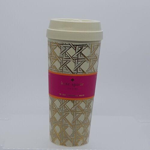Kate Spade New York Insulated Thermal Travel Mug Tumbler 16