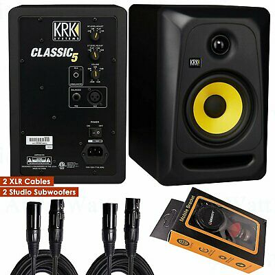 "KRK Classic 5 Bi-Amp 5"" Studio Monitor + 2x XLR Cables +  Ph"