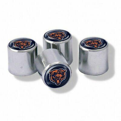 NEW Chicago Bears Football Chrome Tire Valve Stem Caps w/ Team Colors - - Football Team Colors