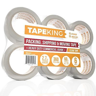 Tape King Clear Packing Tape - 60 Yards Per Roll (Pack of 6 Refill Rolls) - S...