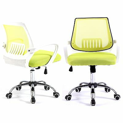 Computer Office Desk Chair Commercial Drafting Task Ergonomic Seat Mesh - Green