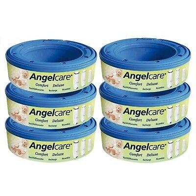 Angelcare 6 Nachfüllkassetten passend für Windeleimer Comfort und Deluxe NEU