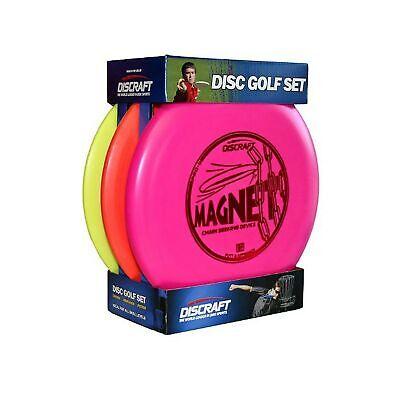 Discraft 3-Pck Starter Pack Beginner Disc Golf Set 1 Driver 1 Mid-Range 1 Putter