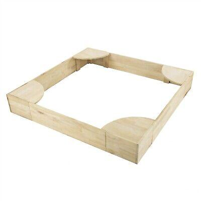 Wooden Sandbox (4 Ft Wooden Outdoor Sandbox 7.5 Inch High New Zealand Pine Kids Play Time)