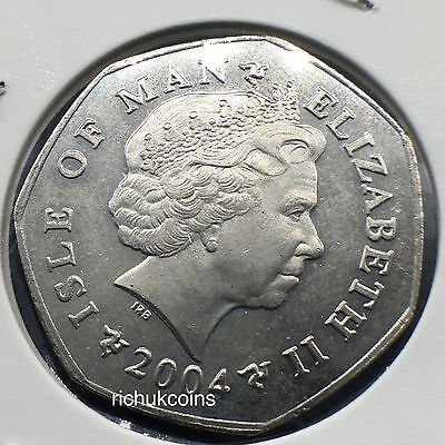 2004 IOM Xmas Currency 50p Coin with AA die marks