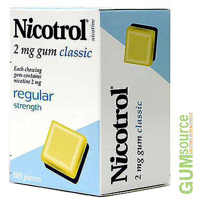 Nicotrol 2mg CLASSIC  1 dented box 105 pieces Nicotine Quit Smoking Gum Quit Smoking Gum