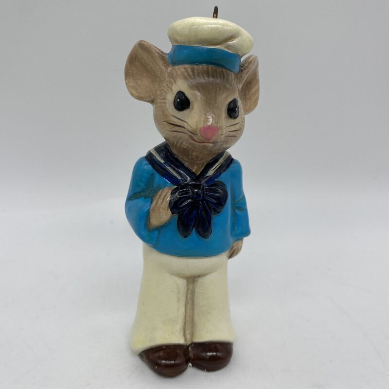 Vintage  Ornament Mouse Sailor Navy #5