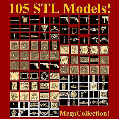Mega STL Collection 3d models for cnc relief artcam vectric aspire cut3d