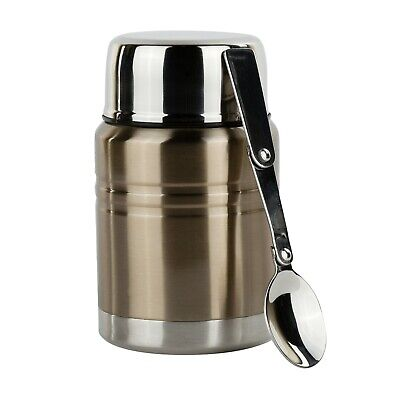 Insulated Food Thermos & Meal Container with Collapsible Spoon Food Jar - Insulated Food Jar