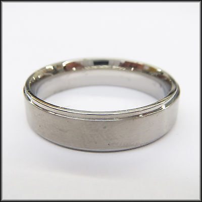как выглядит Stainless Steel Stamped High Polished Edge Ring 6mm фото