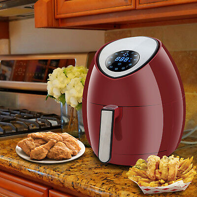 Electric Air Fryer 3.5l3.7qt Touch Lcd Screen Timer Temperature Control 1500w