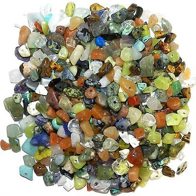 GCL9910 Assorted Gemstone Medium 4mm - 10mm Nugget Chip Bead Mix 4-ounces