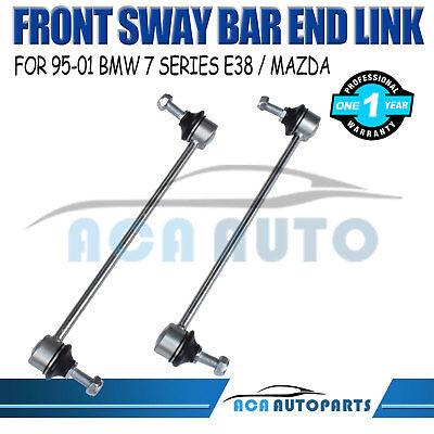 Pair Fits BMW 740i 750i 750iL Z8 Mazda Front Sway Bar End Link Suspension Set