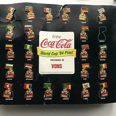1994 Coca Cola Set of Soccer World Cup 94' Championship Pins