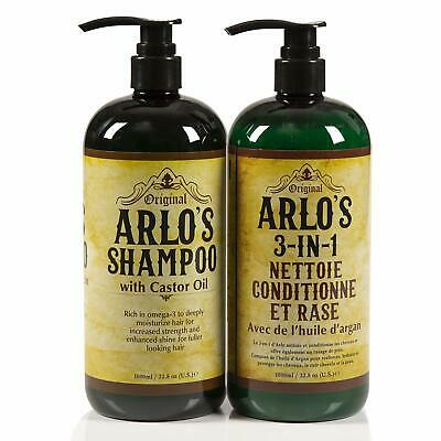 Arlos Complete Hair Care Castor Oil 2PC SET Shampoo+Conditioner 33.8 oz. EA ()