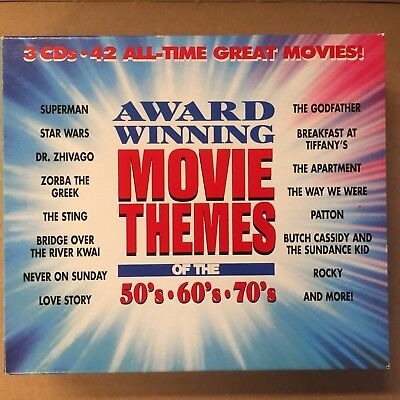 Award Winning Movie Themes of the 50's - 60's - 70's - 3 CD-box (Themes Of The 70s)