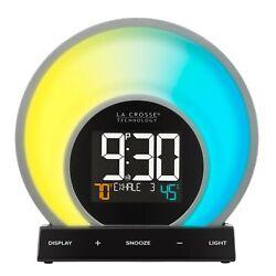 La Crosse Technology Soluna Light Alarm Clock 5 light modes 20 unique colors PRE