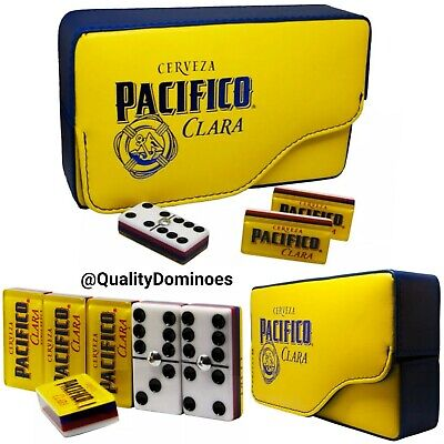 Cerveza Pacifico Beer Domino Game Set Double 6 Dominoes Man Men Father Dad Gift for sale  San Diego